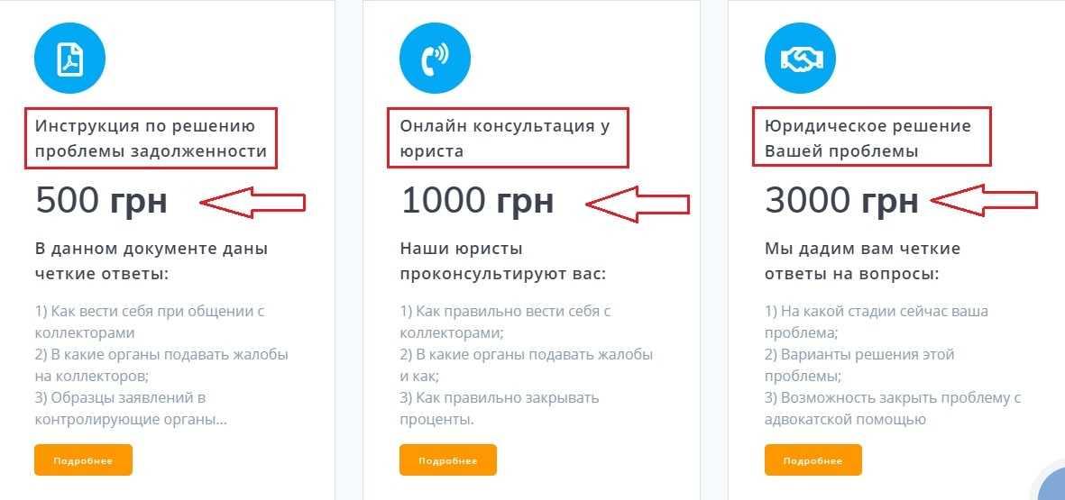Услуги антиколлектора цена